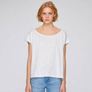 Basic Cropped Shirt Hellgrau aus Biobaumwolle - Gary Mash