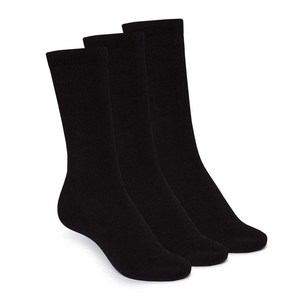 High Rise Socken 3er-Pack, schwarz - THOKKTHOKK