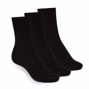 Socken 3er-Pack, schwarz - THOKKTHOKK