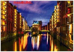 Hamburg bei Nacht - Eykaffee