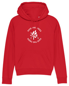 "Damen Hoodie aus Bio-Baumwolle ""Save the Trees"" - White - University of Soul"
