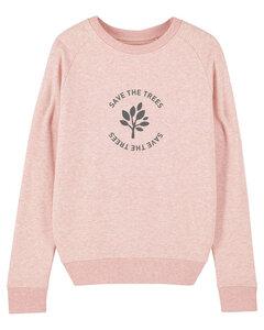 "Damen Sweatshirt aus Bio-Baumwolle ""Save the Trees"" - Anthracite - University of Soul"