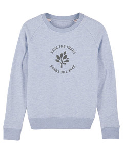 "Damen Sweatshirt aus Bio-Baumwolle ""Save the Trees"" - Anthracite - University of Soul"