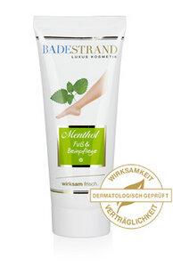 Menthol Fuß- und Beinpflege - Badestrand Luxus Kosmetik