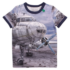 Kinder T-Shirt Airplane  - Fred's World by Green Cotton