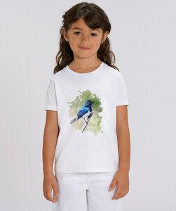 T-Shirt mit Motiv / Blaunachtigall - Kultgut
