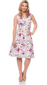 IRIS Kleid (Blumenprint mit rosa/pink) aus Bio Baumwolljersey - Ingoria