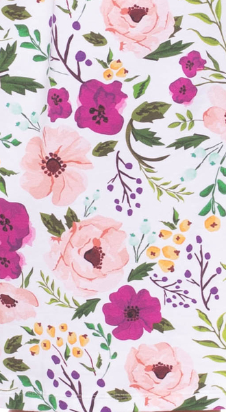 Ingoria - IRIS Kleid (Blumenprint mit rosa/pink) aus Bio ...