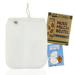 Nussmilchbeutel aus Hanf zur Herstellung von veganer Mandelmilch - Bio - EcoYou