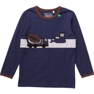 Baby / Kinder Langarm-Shirt Bauarbeiter  - Fred's World by Green Cotton