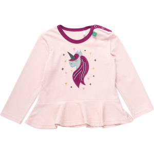 Baby / Kinder Langarm-Shirt Einhorn  - Fred's World by Green Cotton