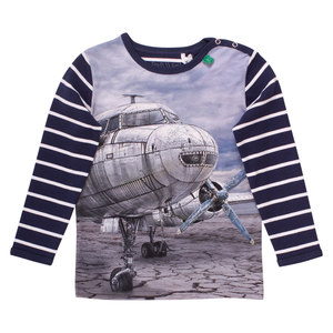 Kinder Langarm-Shirt Airplane  - Fred's World by Green Cotton