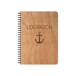 Das Logbuch mit Kirschholzumschlag - echtholz