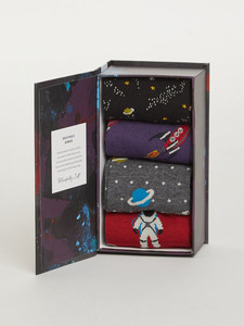 Galaxie 4er Set Sockenbox - Galactic Sock Box - Thought