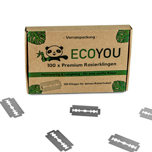 EcoYou® Rasierklingen 100er Set | Ersatzklingen Klingen für Rasierhobel - EcoYou