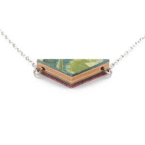 Prisma Halskette aus recycelten Skateboards - Paguro Upcycle