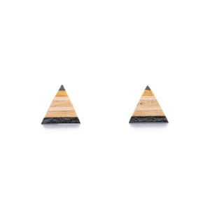 Triangle Ohrstecker aus recycelten Skateboards - Paguro Upcycle