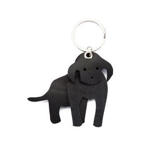 Milo 3D Dog handgefertigter Kautschuk Schlüsselring - SAPU