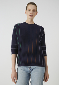 LUCCAA VERTICAL STRIPES - Damen Pullover aus TENCEL Lyocell Mix - ARMEDANGELS