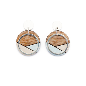 Conture Sterling Silver Ohrringe aus recyceltem Holz - Paguro Upcycle
