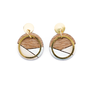 Conture Gold Plated Ohrringe aus recyceltem Holz - Paguro Upcycle