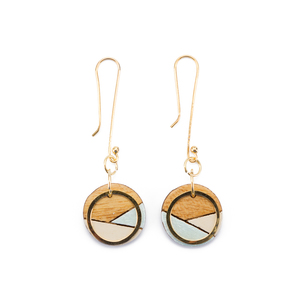Conture Gold Dangle Ohrringe aus recyceltem Holz - Paguro Upcycle
