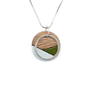 Conture Silver Halskette aus recyceltem Holz - Paguro Upcycle