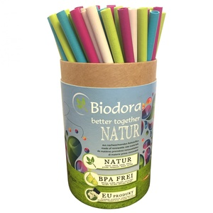 Jumbo Box Trinkhalme mit Reinigungsbürsten - Biodora