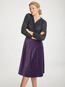 Midi Samt Rock - Zillah Skirt - Thought