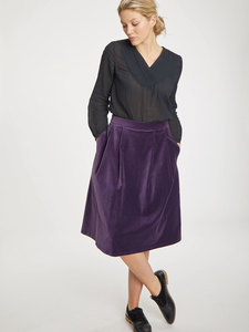 Midi Samt Rock - Zillah Skirt - Thought