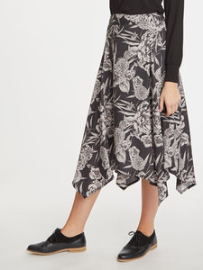 Tencel Blumen Midi Rock - Sylvi Skirt - Thought