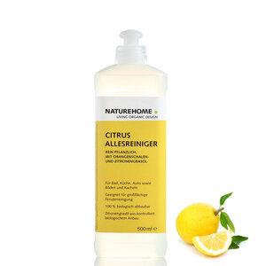NATUREHOME Citrus Bio Allesreiniger 0,5L Natur Reiniger Universalreiniger Allzweckreiniger - NATUREHOME