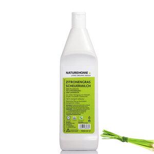 NATUREHOME Bio Scheuermilch Zitronengras Öko Reiniger vegan 500 ml - NATUREHOME