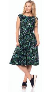GRACE 50s Swing Kleid in (Botanical Herbst) - Ingoria