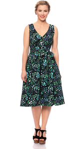 HANNA 50s Swing Kleid (Botanical Herbst) - Ingoria