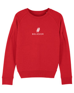 "Damen Sweatshirt aus Bio-Baumwolle ""BELIEVER"" - White - University of Soul"