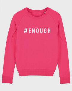 "Damen Sweatshirt aus Bio-Baumwolle ""ENOUGH"" - White - University of Soul"