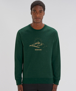Herren Sweatshirt/ Mountains - Kultgut