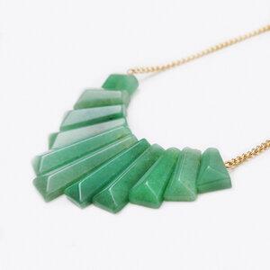Aventurin Collier Halskette, vergoldet von Crystal and Sage - Crystal and Sage