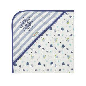 Piccalilly Wendehandtuch /Decke plus Mütze 100% Baumwolle( bio) für Jungen - piccalilly