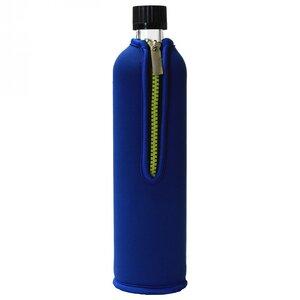 Kleine Glas Trinkflasche 350ml mit Neoprenbezug - Dora