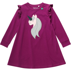 Kinder Langarm-Kleid Einhorn - Fred's World by Green Cotton