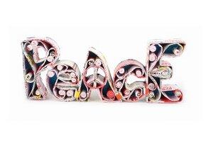 """Deko-Schriftzug """"Peace""""  - El Puente"""
