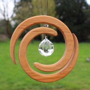 Fensterdeko aus Holz | Helix mit Kristall - Mitienda Shop