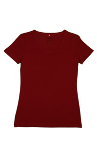 Damen Kurzarmshirt 3 Farben Bio-Baumwolle Oberteil T-Shirt  - Albero
