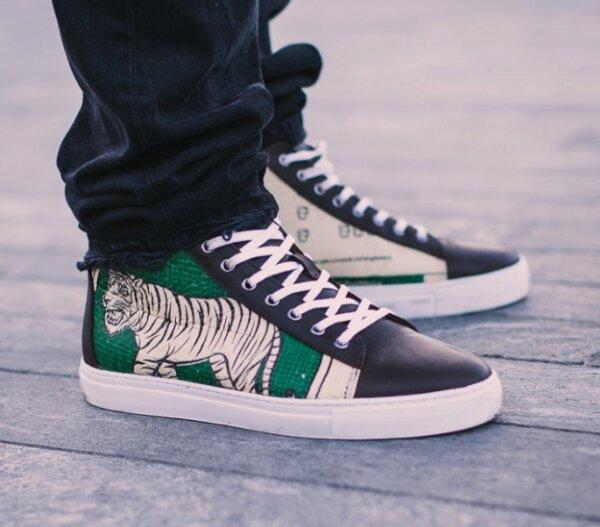 Elephbo Sneaker aus recyceltem Zementsack Green Tiger