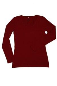 Damen Langarmshirt Rundhals 5 Farben Bio-Baumwolle T-Shirt 4412 - Albero