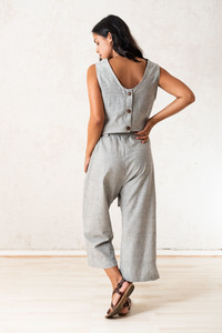 Jumpsuit JALINA hellgrau - Jyoti - Fair Works