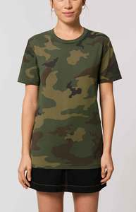 Unisex Camouflage T-Shirt aus 100% Baumwolle(Bio), Bio Shirt gemustert - YTWOO