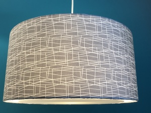 Hängeleuchte flat Little stitches grey - my lamp